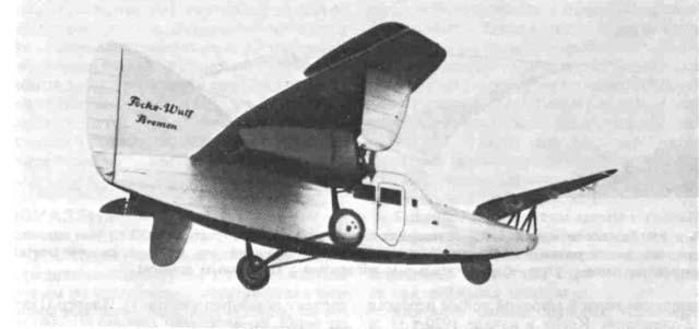 Можно считать, что основной вклад этого летательного аппарата в развитие авиационной техники состоит в том, что на нем снова было внедрено в практику самолетостроения трехопорное шасси с носовым колесом. Основные данные: силовая установка - два двигателя SH-14 мощностью 100 л. с. (73,5 кВт) каждый фирмы 'Сименс'; размах крыла 10 м; взлетная масса 1650 кг; максимальная скорость 141,5 км/ч.