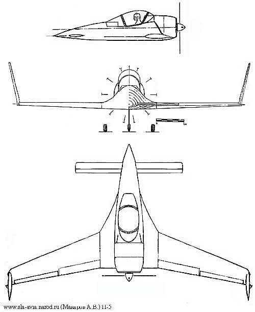 Эскиз самолета П-5